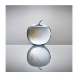 Český křišťál - jablko + 24k zlato