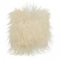 Sedák z islandské ovce, bílá, dlouhý vlas eco