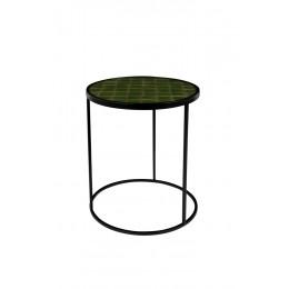 Odkládací stolek GLAZED, zelený