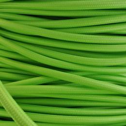 Kabel textilní zelený