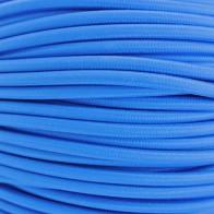 Kabel textilní modrý