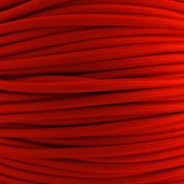Kabel textilní bílý