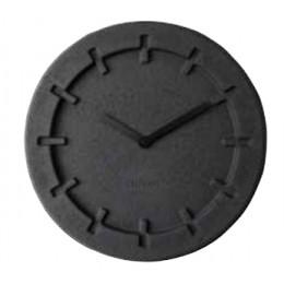 Hodiny Pulp Time, kulaté, černé