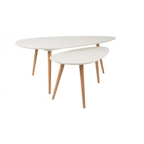 Zuiver / White Label SIDE TABLE DROP SET OF 2