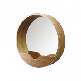 Dřevěné zrcadlo Round Wall,60cm