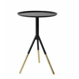 Konferenční stolek ELIA black/brass