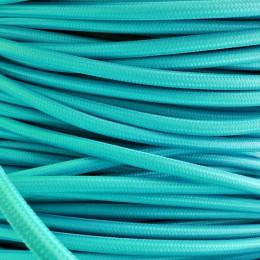 Kabel textilní tyrkysová