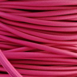 Kabel textilní růžový