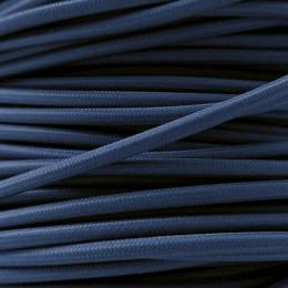 Kabel textilní tm. modrý