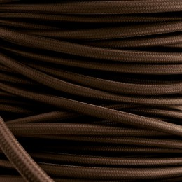 Kabel textilní hnědý