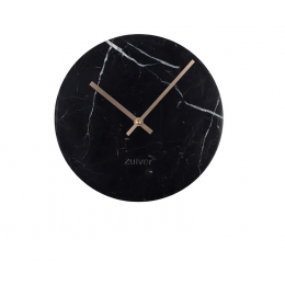 Hodiny Marble Time black