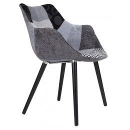 Židle/křeslo Twelve Patchwork černošedé