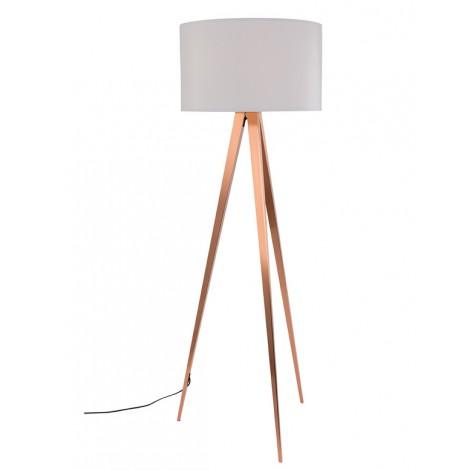 Zuiver Tripod Copper White stojací lampa