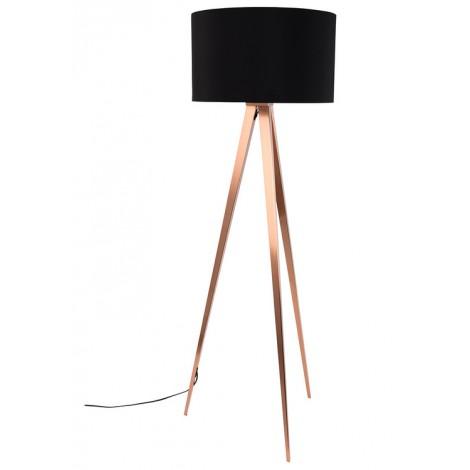 Zuiver Tripod Copper Black stojací lampa