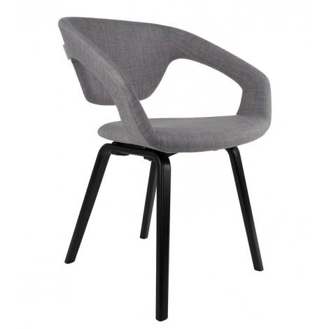 Zuiver Židle/křeslo Flex Back black/grey