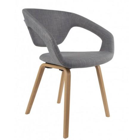 Zuiver Židle/křeslo Flex Back nature/light grey