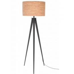 Stojací lampa Tripod CORK Black
