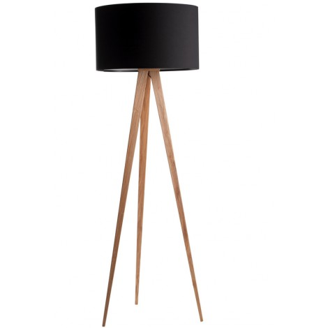 Zuiver Stojací lampa Tripod Wood black