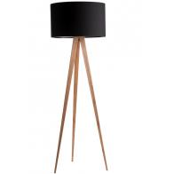 Stojací lampa Tripod Wood black