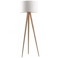 Stojací lampa Tripod Wood white