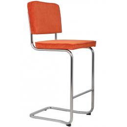 Ridge Kink Rib Barstool Orange