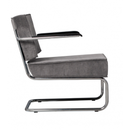 Křeslo Ridge Lounge Rib cool grey
