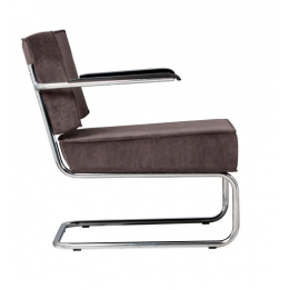 Křeslo Ridge Lounge Rib grey
