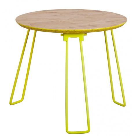 Zuiver Konferenční stolek OSB, malý, žlutý