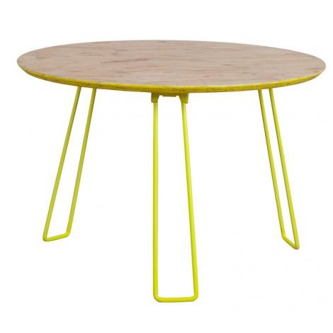 Zuiver Konferenční stolek OSB, velký, žlutý