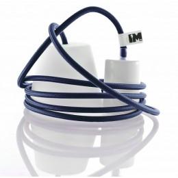 Silikon 1-závěsná žárovka, light blue/white