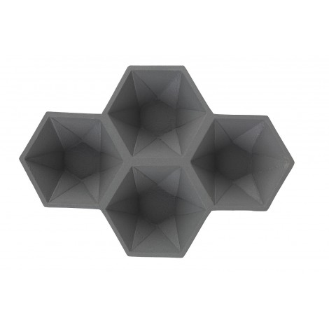 Zuiver Dekorační mísa HEXAGON/ grey