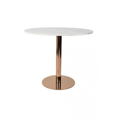 Zuiver Kulatý stůl Marble King 90' copper