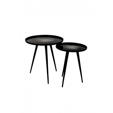 Zuiver Odkládací set stolků FLOW / black