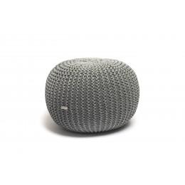 Justin Design Pletený puf střední středně šedé melé