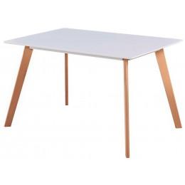 Jídelní stůl NORDIC, buk/bílá