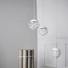 Závěsné svítidlo Kelly Cluster, 1 x 9W LED 2700 K stmívatelné, bílé
