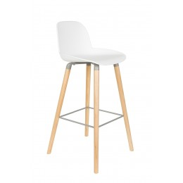 Barová židlička ALBERT KUIP 99 cm, white