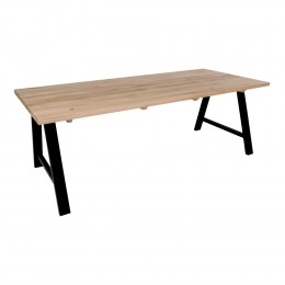 Jídelní stůl AVIGNON 200x100 cm, bílý dub