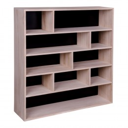 Knihovna PISA přírodní dřevo pavlovnie, černá záda