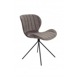 Židle OMG velvet, grey