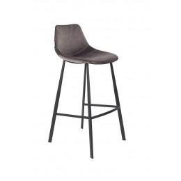 Barová židle FRANKY VELVET GREY
