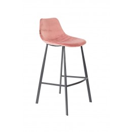 Barová židle FRANKY VELVET OLD PINK