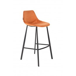Barová židle FRANKY VELVET ORANGE