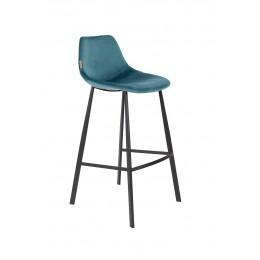 Barová židle FRANKY VELVET PETROL