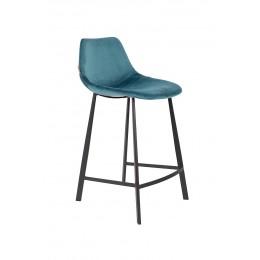 Barová židle FRANKY STOOL VELVET PETROL