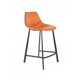 Barová židle FRANKY STOOL VELVET ORANGE