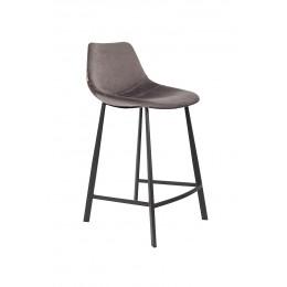 Barová židle FRANKY STOOL VELVET GREY