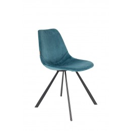 Židle Franky VELVET PETROL