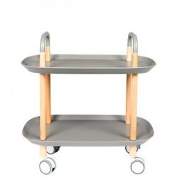 Pojízdný odkládací stolek TROLLEY, grey