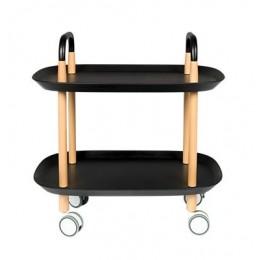 Pojízdný odkládací stolek TROLLEY, black